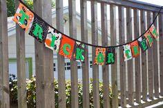 Trick Or Treat Fabric Halloween Banner