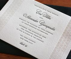 We can also envision this invitation setting the perfect tone for a classical destination wedding in Greece or Rome.