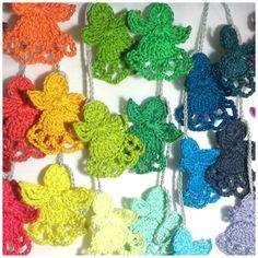 Colorful Crochet Angel Pattern