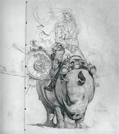 Senhora Rhino by Feral Kid, love this drawing Sketches, Character Design, Artist Inspiration, Sketch Book, Drawings, Drawing Illustrations, Drawing Sketches, Art Reference, Character Design References