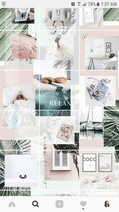 How to Make a Puzzle Feed Without Photoshop — Paper & a Plan - Wallpapers Canva Instagram, Instagram Feed Layout, Instagram Grid, Instagram Design, Instagram Posts, Instagram Templates, Web Design, Wallpapers Rosa, Pastel Design