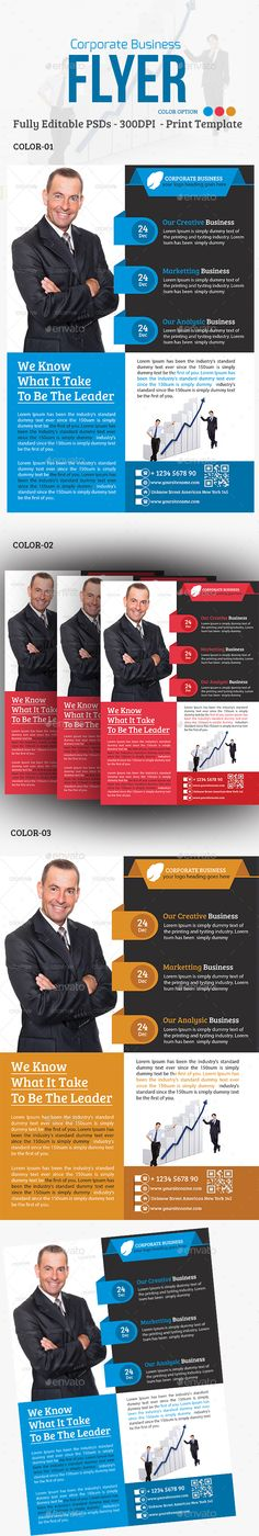 Corporate Business Flyer Template PSD #design Download: http://graphicriver.net/item/corporate-business-flyer/14040936?ref=ksioks