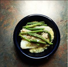 asparagus, cod, and couscous on foodie ventures: photo op: INSTAGRAM food photos