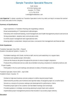 sle treasury specialist resume resame