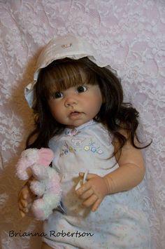 "Custom Reborn Toddler Girl Doll Tippi by Linda Murray The Cradle 30"" Tall | eBay  TIPPI DOLL"
