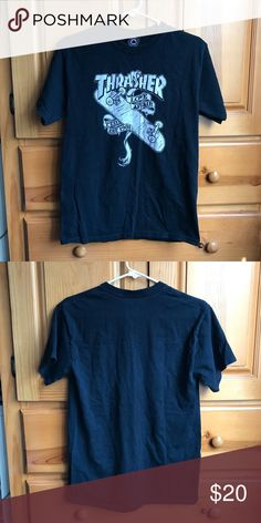Vintage Thrasher tee Vintage thrasher t shirt. Worn and washed a few times. Still in good condition. Will look great with some boyfriend jeans or distress them yourself. Not looking to trade this item. thrasher Tops Tees - Short Sleeve