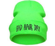 21 Colors BAD HAIR DAY Neon Knitted Hats For Women Casual Gorro Fashion Elastic Beanie 2015 Men Bonnet Winter Skullies Cap