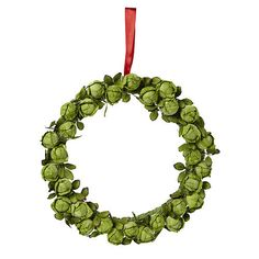 A wreath made from sprouts