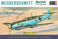 Messerschmitt Me 109 E, Revell Vintage Models, Old Models, Vintage Box, Plastic Model Kits, Plastic Models, Airfix Kits, Revell Monogram, Monogram Models, Hobby Kits