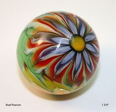 Flower Power Marble 26 Brad Pearson di pearsonglass su Etsy