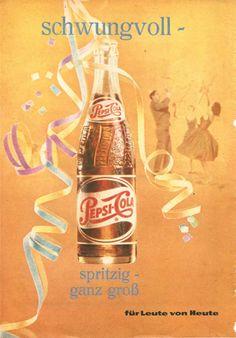 Schwingende Werbung für Pepsi-Cola von 1962 #Pepsi #PepsiCo