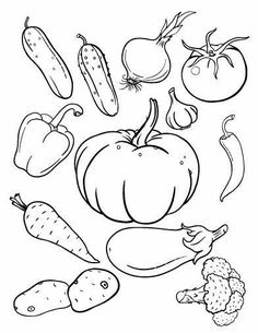Harvest Fruits and Vegetable Coloring Pages Best Of Fruit and Ve Able Drawing at Getdrawings Vegetable Coloring Pages, Fruit Coloring Pages, Animal Coloring Pages, Colouring Pages, Coloring Sheets, Free Coloring, Coloring Books, Vegetable Drawing, Vegetable Pictures