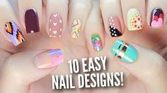 10 Nail Art Designs Using Household Items: The Ultimate Guide! - YouTube