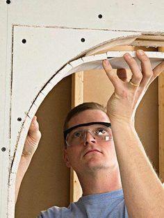 Bending Drywall Panels – Advanced Techniques – Drywall … – Home Decor Home Improvement Loans, Home Improvement Projects, Home Projects, Home Renovation Loan, Drywall Installation, Drywall Repair, Beton Design, Diy Home Repair, Home Repairs