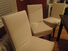 Hammers and High Heels: DIY Chair Covers: Simple Step By Step to Make Your Own Chair Covers