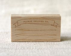 Rubber Stamp  Please Deliver To by witandwhistle on Etsy, $24.75