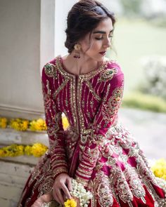 """Laam on Instagram: """"New Year Rs 100,000/- MEGA GIVEAWAY! ✨ We are giving you a chance to WIN Rs 100,000/- voucher to style your wardrobe (can be used to…"""" Asian Bridal Dresses, Desi Wedding Dresses, Indian Bridal Outfits, Indian Bridal Fashion, Indian Dresses, Pakistani Fashion Party Wear, Pakistani Wedding Dresses, Anarkali, Lehenga"""