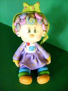 Boneca Lili em Biscuit - Artfex - Artesanato em Evidência