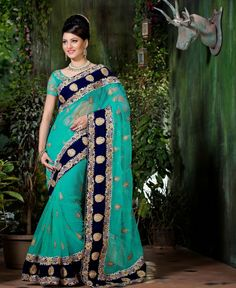 Attractive designer party wear embroidery saree will make you amazed look with heavy embroidery work and nice lace patti work. addsharesale provides latest online wholesale clothing products for suppliers meets sellers to manage clothing products. www.addsharesale.com