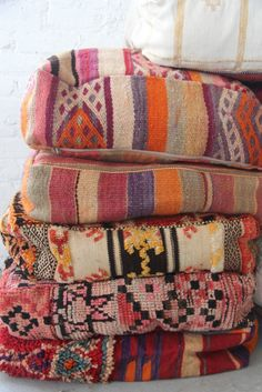 Age-softened brights: Moroccan Floor Pillows | Patina