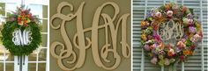monograms...so southern and classy. I particularly love the wreaths with the monograms in the center <3 -CTD