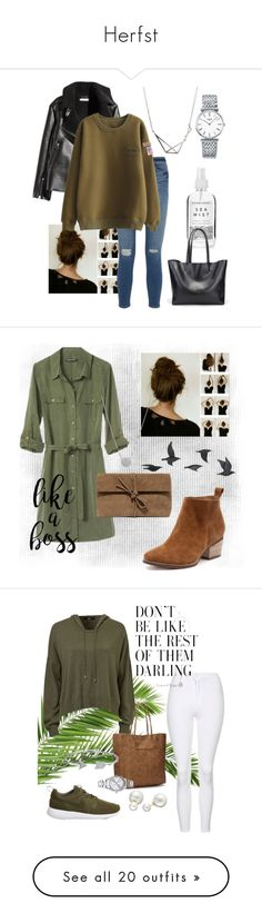 """Herfst"" by ghuus15 ❤ liked on Polyvore featuring H&M, Longines, Frame, Herbivore, Banana Republic, LULUS, Jayson Home, GREEN, casualoutfit and Topshop"