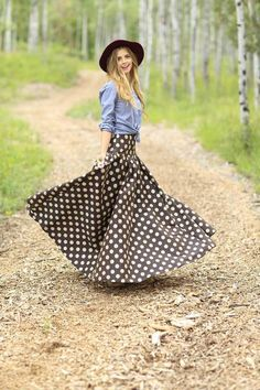 Matila Skirt Brown from the Fall Collection by Shabby Apple