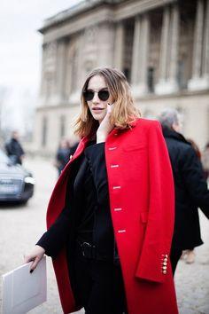 Beautiful red coat..