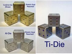 Multicolor flame anodized dice. Add some titanium style to your gaming experience.