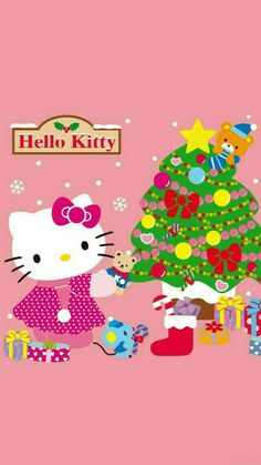 November 14 2019 at Hello Kitty Cookies, Hello Kitty Art, Hello Kitty Items, Sanrio Hello Kitty, Hello Kitty Pictures, Kitty Images, Hello Kitty Christmas, Christmas Cards, Xmas