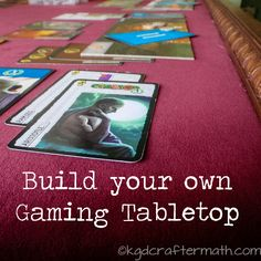 DIY gaming tabletop by Please Excuse My Craftermath