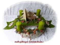 Adventskranz 43 cm! aus Floristenhänden mehrjährig von Die Geschenkidee auf DaWanda.com