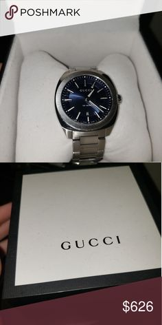 36d1e2191bc Gucci watch Men s Gucci® GG2570 watch 41 millimeter stainless steel case  Round blue dial Silver