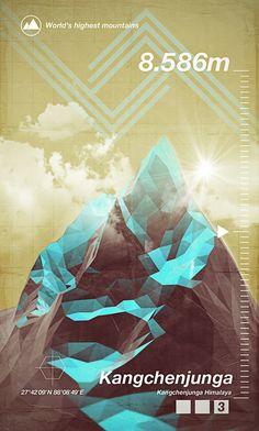 Obviously I love the 3D look of the geometric mountain peaks, but I'm also a big fan of the straw and turquoise palette. Feels bright and bold without overloading the eyes.