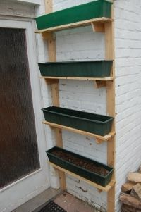 Pallet Shelves for Vertical Garden (easy)