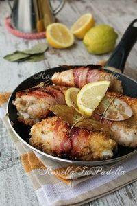 Chicken of the poet, with bacon and lemon   Pollo del poeta, con pancetta e limone   Rossella In Padella