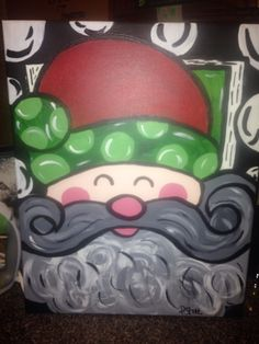 My Santa painting from Christmas