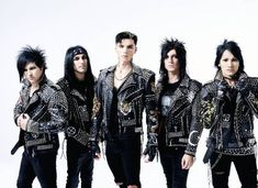 *God I love them!* Black Veil Brides want to write songs that turn people away from darkness - Features - Alternative Press Black Viel Brides, Black Veil Brides Andy, Good Charlotte, Asking Alexandria, My Chemical Romance, Bvb Fan, Andy Black, Amazing Songs, Band Pictures