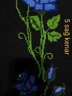 This Pin was discovered by Nec Cross Stitch Rose, Embroidery Stitches, Diy And Crafts, Cross Stitch, Needlepoint, Blade, Embroidery, Botany, Needlepoint Stitches