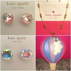BLACK FRIDAY SALE Kate Spade ♠ Bundle NWTs ✨ NWTs Kate Spade ♠ Bundle for of 2 Spring item & 2 Winter items • Posts are made of Rhodium & are Nickel Free for sensitive ears •  Includes dust bags for Jewelry • smoke/pet free home • 20% donated to the American Cancer Society • Thanks & Happy Poshing! ✨ kate spade Bags