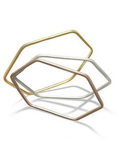 Studio Silver Hexagon Bangles - Bracelets - Jewelry & Watches - Macy's