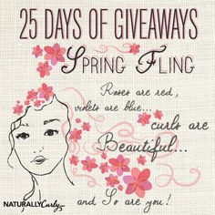 I just entered NaturallyCurly's 25 Days of Giveaways to win some amazing curly hair prizes on NaturallyCurly.com! You should enter too. It's easy, click here: http://www.naturallycurly.com/giveaways/NaturallyCurlys-25-Days-of-Giveaways/st/5158d3c6b98f76.08427665