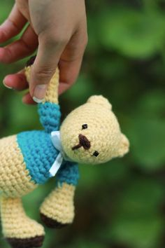 Osito amigurumi de ganchillo - crochet - hecho a mano en DaWanda.es