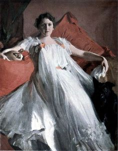 ▴ Artistic Accessories ▴ clothes, jewelry, hats in art - Anders Zorn | Portrait de Mme Ashley