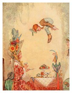 Vintage William Heath Robinson illustration 1912