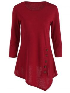 GET $50 NOW | Join RoseGal: Get YOUR $50 NOW!http://m.rosegal.com/blouses/pure-color-button-asymmetric-blouse-715783.html?seid=2174698rg715783