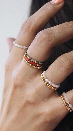 Cute Jewelry, Diy Jewelry, Jewelery, Jewelry Accessories, Jewelry Design, Bead Jewellery, Beaded Jewelry, Beaded Bracelets, Bijou Brigitte