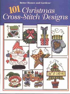 101 Christmas Cross-Stitch Designs Leaflet by Robin Kingsley was published in 1997 by Better Homes and Gardens. Cross Stitch Tree, Cross Stitch Books, Mini Cross Stitch, Cross Stitch Christmas Stockings, Christmas Cross, Xmas, Cross Stitch Designs, Cross Stitch Patterns, Cross Stitching