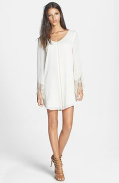 ASTR Crochet Cuff Jacquard Shift Dress @nordstrom