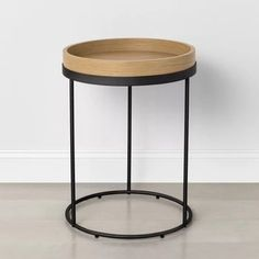 IKEA Billy Bookcase Hack - Wall Of Built-ins - The Sommer Home Ikea Billy Bookcase Hack, Billy Bookcases, Round Accent Table, Black Accent Table, Round Tray, Accent Tables, Wood End Tables, Side Tables, Wood Steel